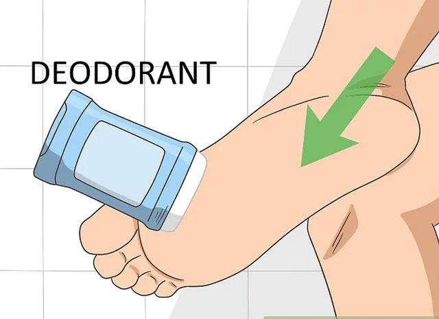 استفاده از دئودورانت ها برای عرق کف پا